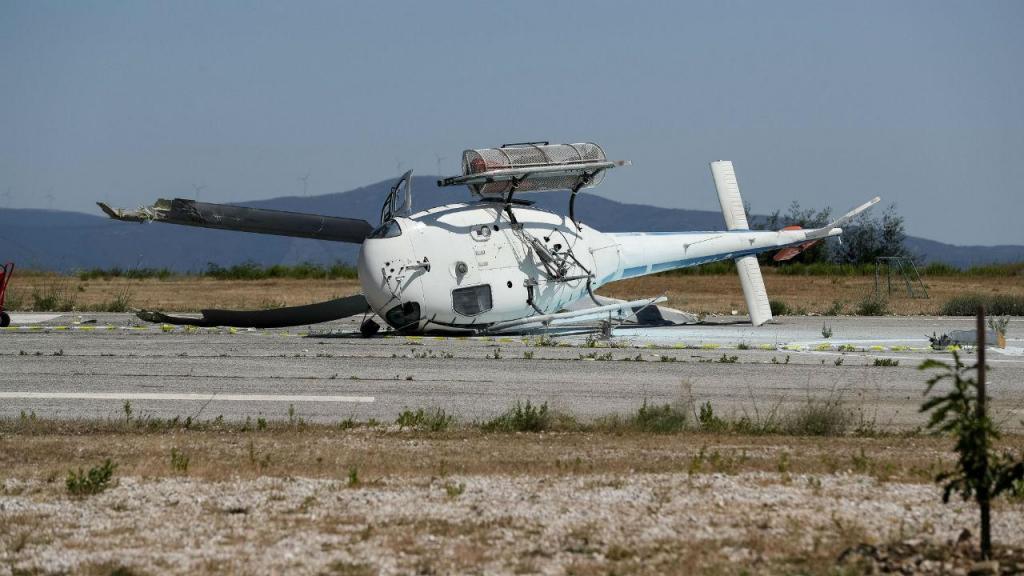 As imagens do helicóptero que caiu na Pampilhosa da Serra