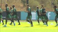 Seleção treinou esta quinta-feira antes de partir para a Sérvia
