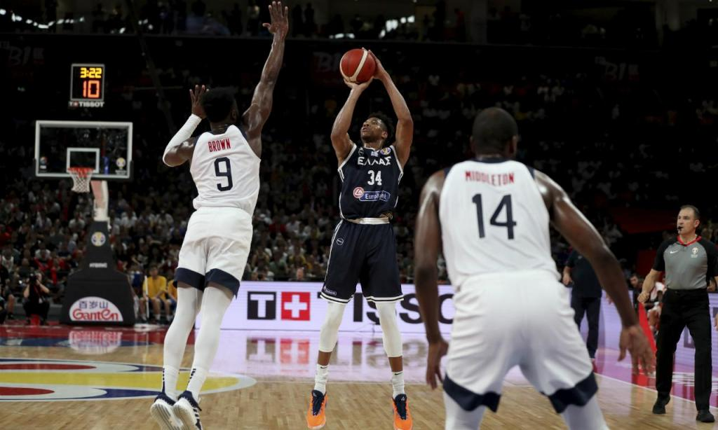 Mundial de Basquetebol: EUA-Grécia (Associated Press)