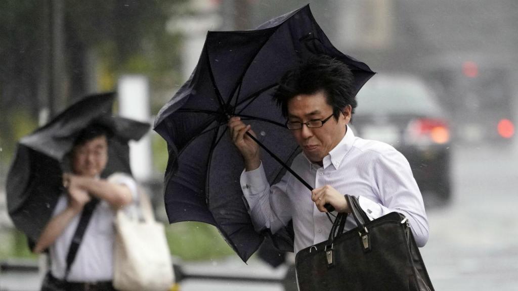 Tufão no Japão