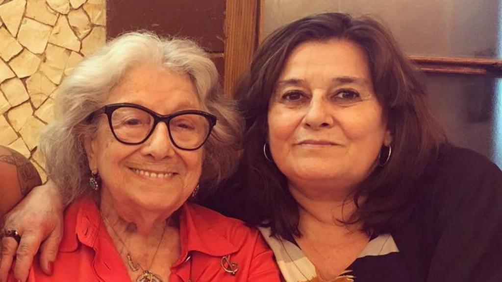 Eunice Muñoz, com a filha Maria
