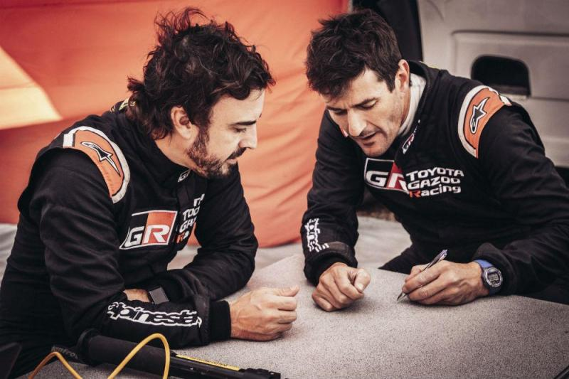 Fernando Alonso e Marc Coma (Toyota)