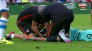Oblak foi atingido na face no segundo golo da Real Sociedad