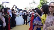 Casamento de José Miguel e Tânia Oliveira ao som do hino do V. Guimarães