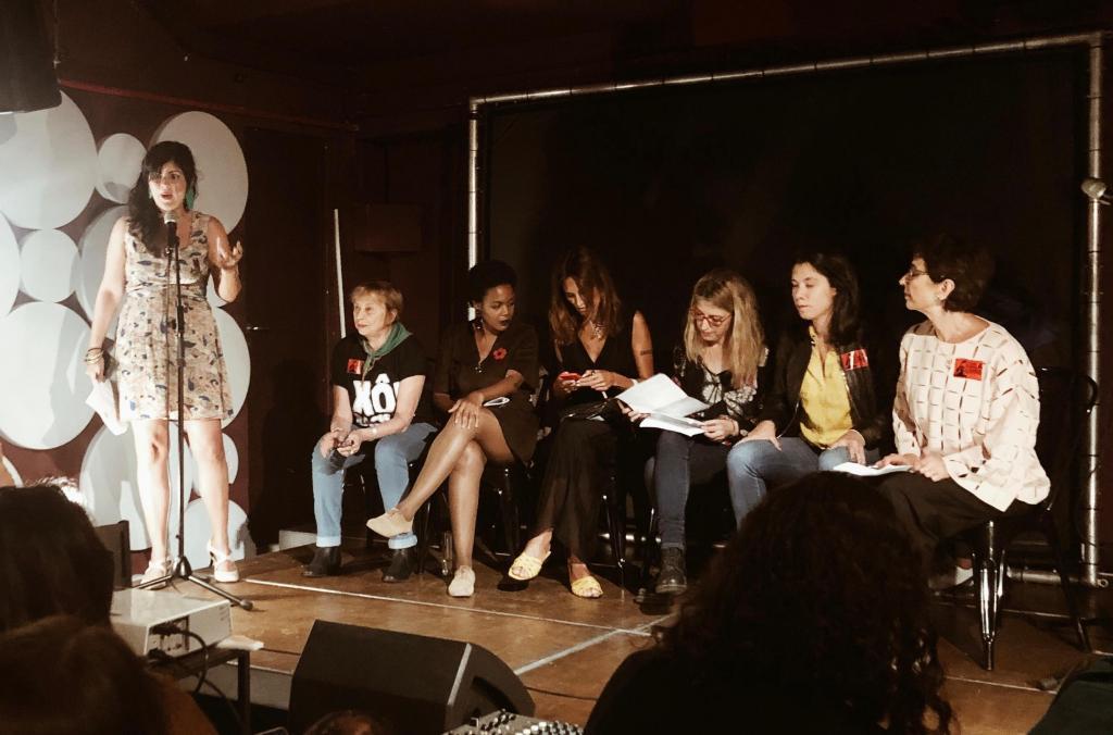 Encontro de feminismos com Schuma Shumacher, Joacine Katar Moreira, Isabel Moreira, Maria Eugenia Palop e Pilar del Rio