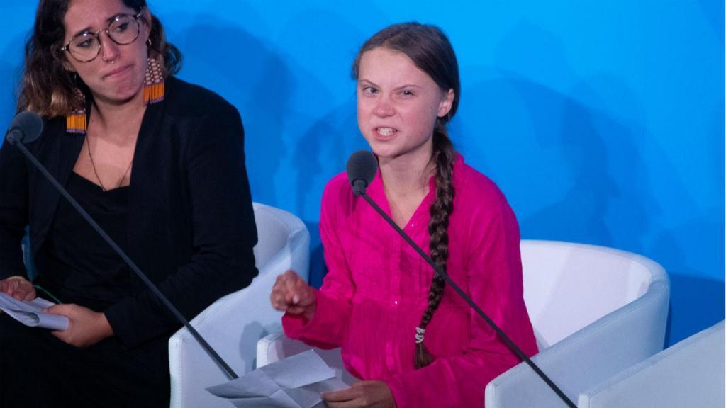 Greta Thunberg discursou na Cimeira da Ação Climática em Nova Iorque