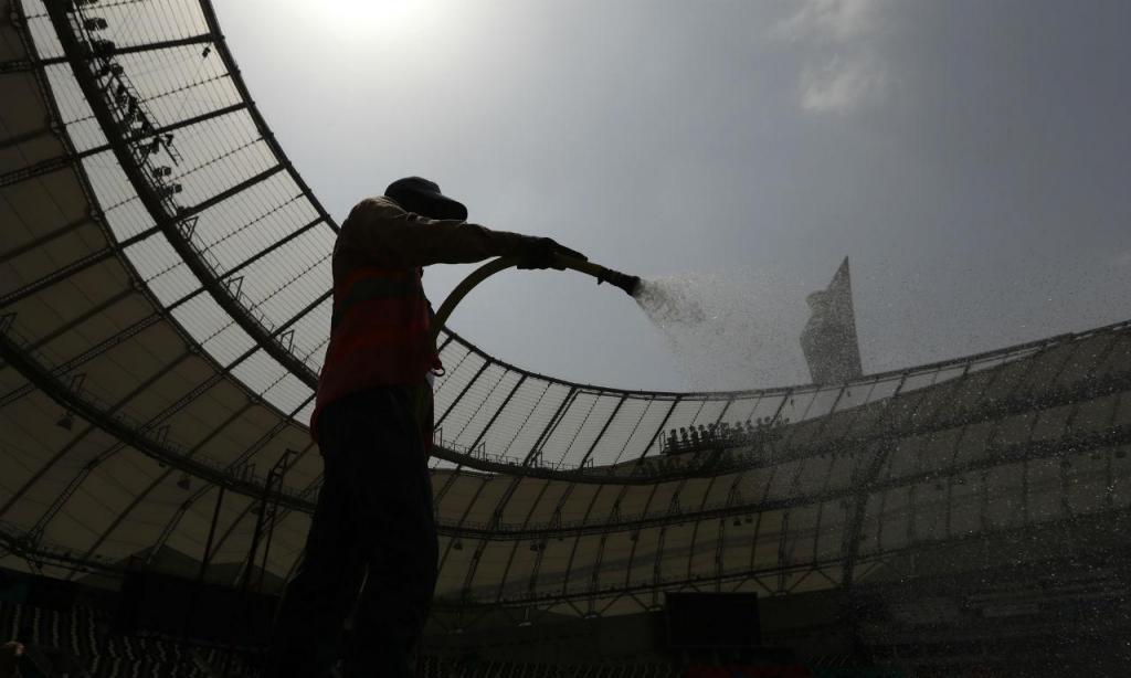 Mundiais atletismo: o estádio de Doha