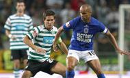 Silas contra João Moutinho num Sporting-Belenenses, em 2008