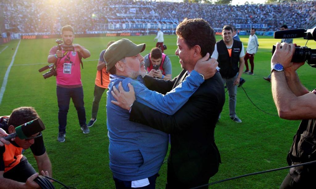 Maradona e  Marcelo Gallardo (EPA/Demian Alday Estevez)