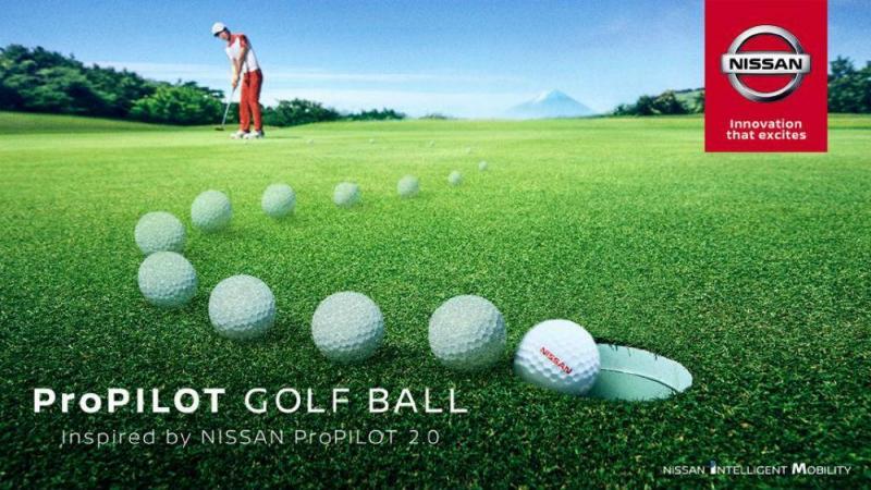 Bola de golfe da Nissan