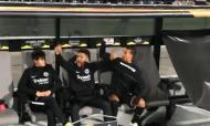 Jogadores do Eintracht