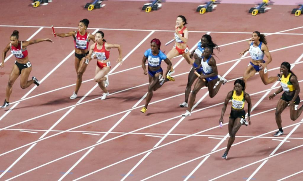 Mundiais atletismo: final estafeta feminina 4x100 (AP)
