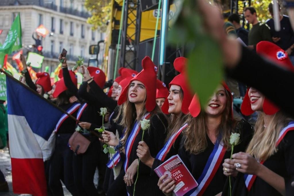 Protesto Paris Anti-Inseminação artificial
