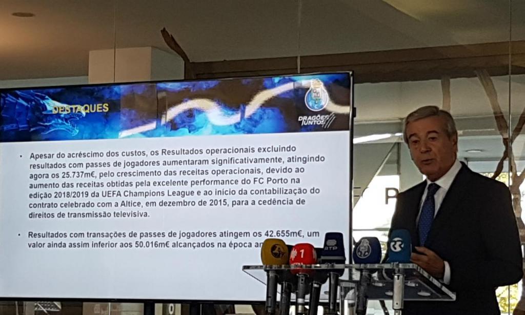 Fernando Gomes apresenta contas de 2018/2019 do FC Porto (RJC)