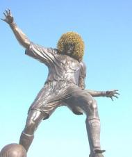 Estátua de Valderrama em Santa Marta, Colômbia