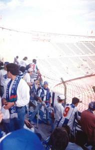 Nuno Lobo, adepto do FC Porto, no Camp Nou, em Barcelona (arquivo pessoal)