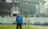 Nuno Lobo, adepto do FC Porto, nos arredores do antigo Estádio da Luz (arquivo pessoal)
