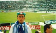 Nuno Lobo, adepto do FC Porto, no antigo Estádio José Alvalade (arquivo pessoal)