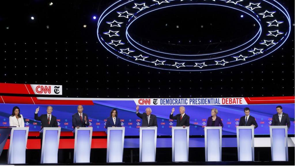 Debate dos candidatos às eleições primárias do Partido Democrata