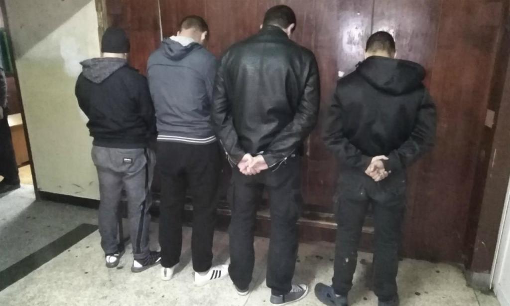 Búlgaros detidos (foto Ministério Búlgaro do Interior)