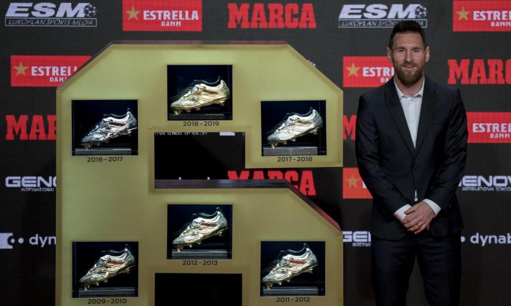 Lionel Messi recebe sexta Bota de Ouro (AP)