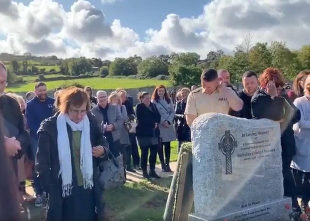 Irlandês Shay Bradley pregou partida à família no funeral