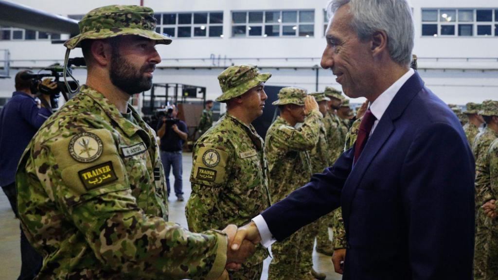João Gomes Cravinho na Receção aos Militares