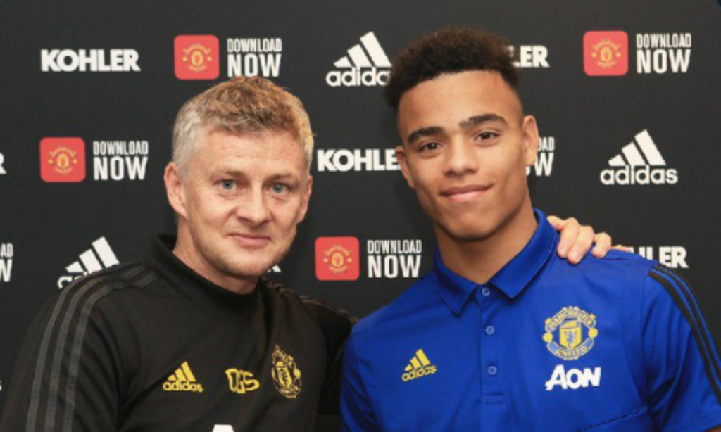 Manchester United renova com Mason Greenwood (twitter Man United)