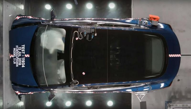 Crash Test do Tesla Model 3 (reprodução YouTube Tesla)