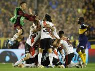 Boca Juniors - River Plate (AP Photo/Natacha Pisarenko)