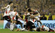 Boca Juniors-River Plate (AP Photo/Natacha Pisarenko)