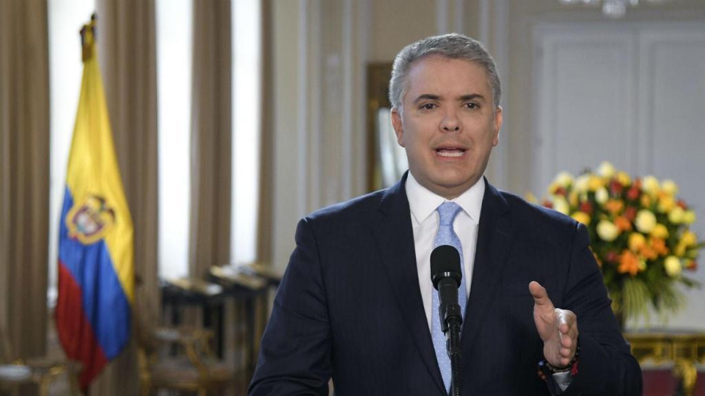 O presidente da Colômbia, Iván Duque Márquez