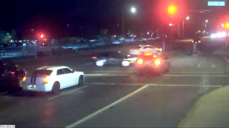 Acidente (reprodução Facebook City of Phoenix Police Department)