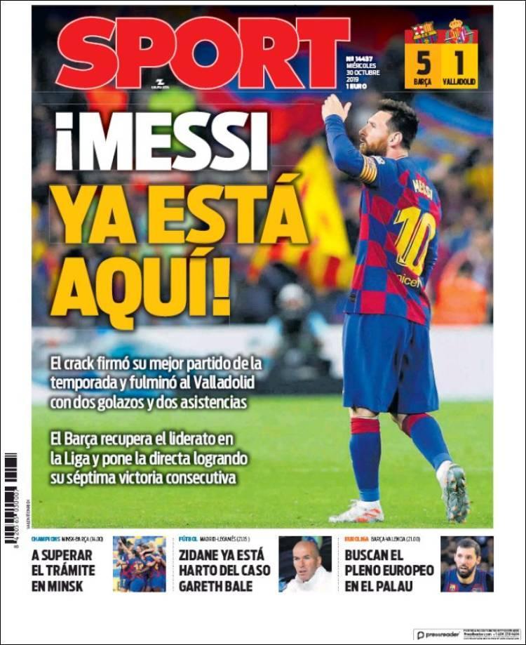 Quiosque: papagaios, relvado acidentado e magia de Messi nas manchetes - Mais Futebol