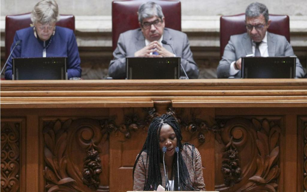 Joacine Katar Moreira, do Livre, no encerramento do debate do Programa de Governo