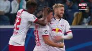 VÍDEO: golaço de Demme a colocar Leipzig em vantagem