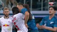 VÍDEO: jogadores de Leipzig e Zenit exaltam-se