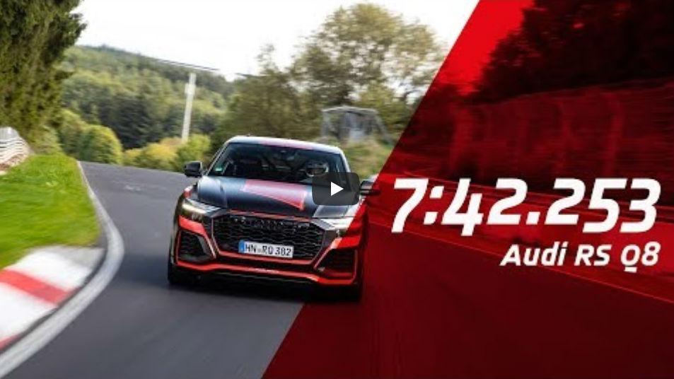 Audi RS Q8 bate recorde do Nordschleife (reprodução YouTube Nurburgring)