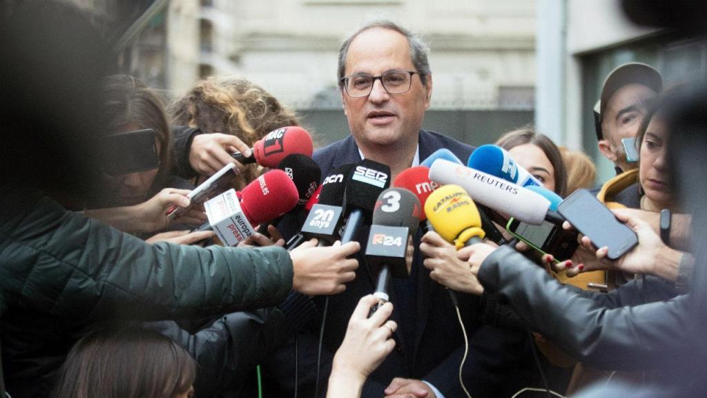 Quim Torra, presidente da Catalunha