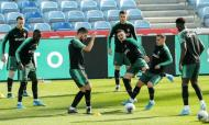 Treino da Seleção Nacional na véspera do jogo com a Lituânia (Lusa)