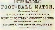 Anúncio do Escócia-Inglaterra de 1872 (Imagem Federação inglesa)