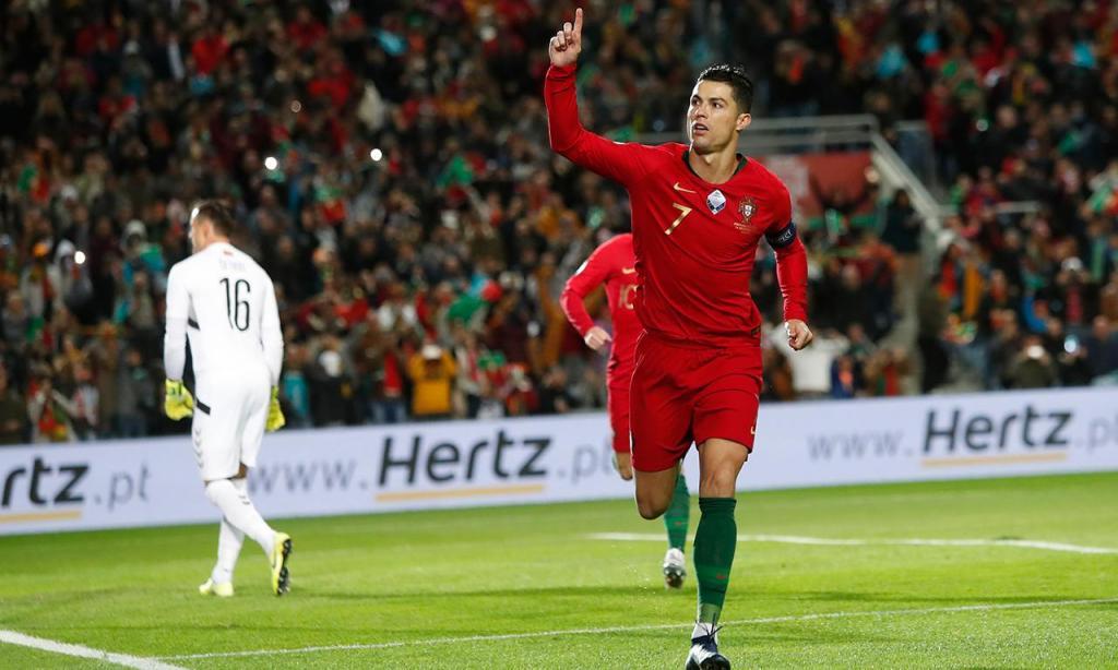 3) Cristiano Ronaldo (Portugal), 10 golos