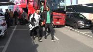 Seleção Nacional no Aeroporto de Faro à partida para o Luxemburgo