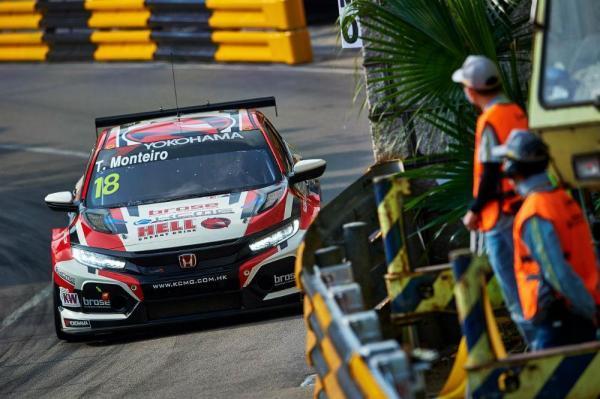 """WTCR: Tiago Monteiro com fim de semana """"frustrante"""" no GP de Macau - AutoPortal"""