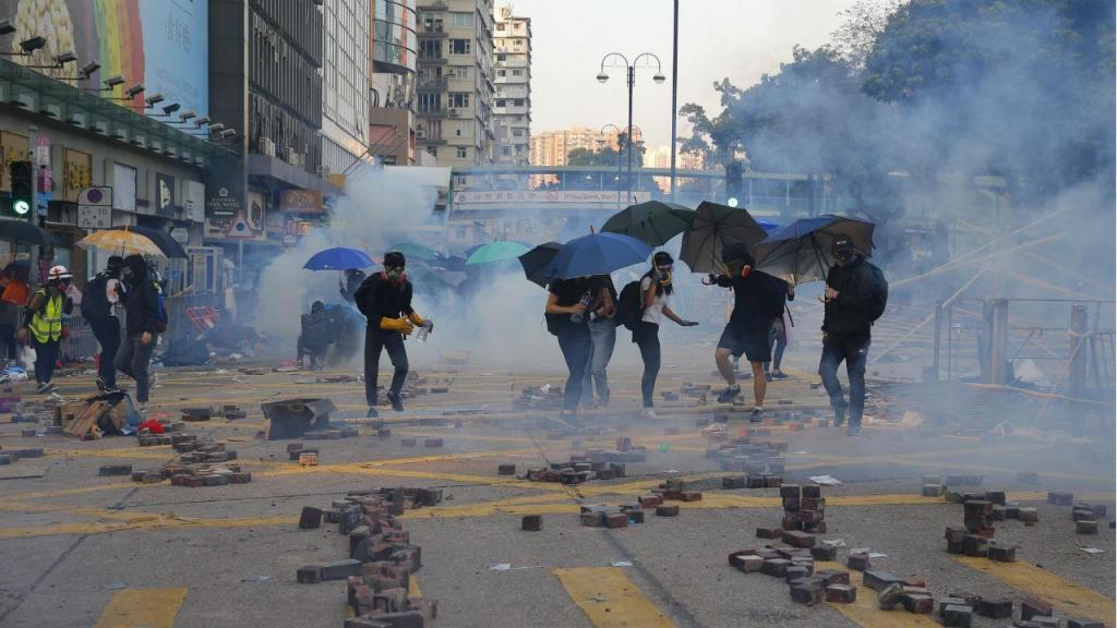 Protestos na Universidade Politécnica de Hong Kong