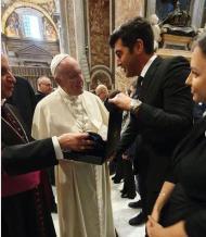Paulo Fonseca com o Papa Francisco