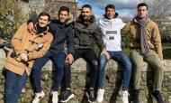 Óliver Torres com os amigos do FC Porto