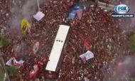 Autocarro do Flamengo (Fox Sports)