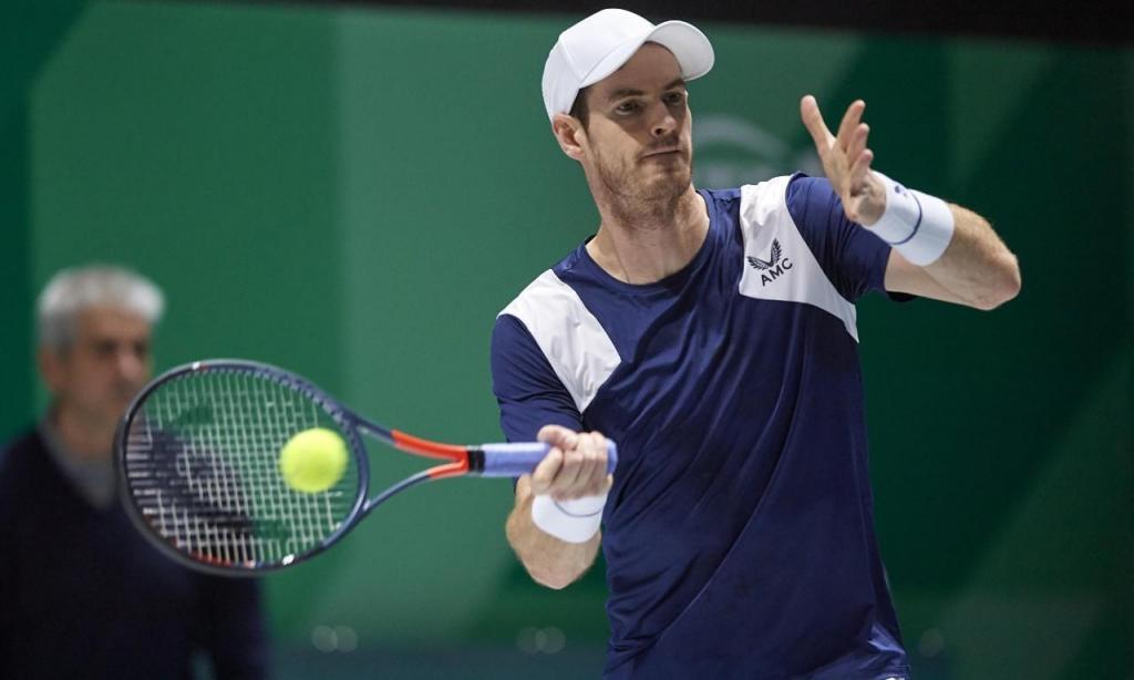 Andy Murray suou para vencer o holandês Griekspoor