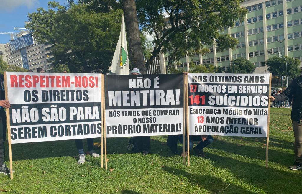 PSP e GNR manifestam-se em Lisboa por melhores condições no exercício da profissão